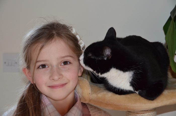 photo of Mia her cat Pippa